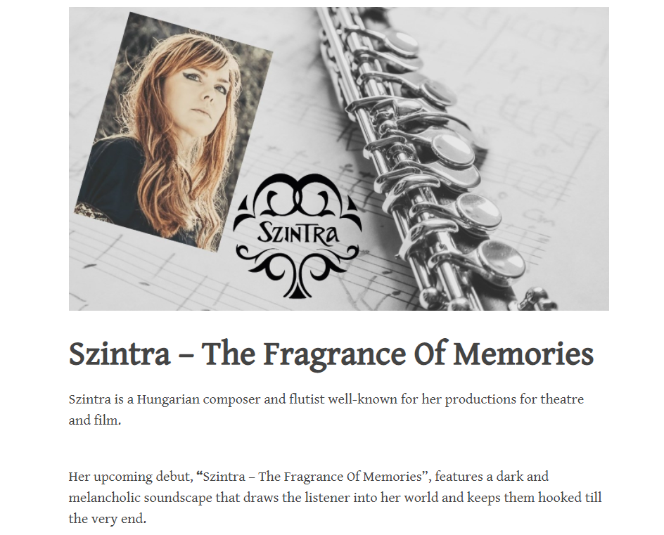TheBandCampDiaries review for The Fragrance of Memories